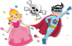 princess superheroes pirate parties